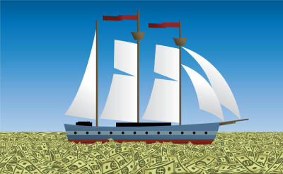 Ship on Money Waters