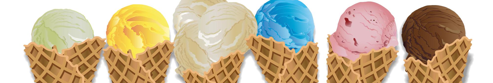 Ice cream cones illustration